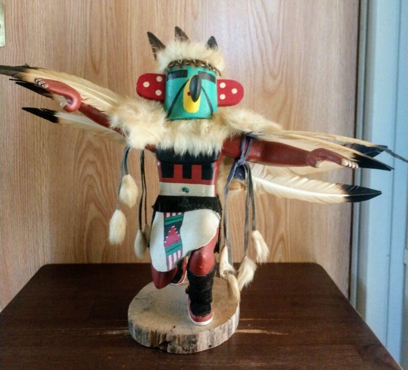 Eagle Dancer Kachina by Leonora Jones Signed Dated