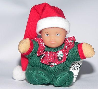 """Zapf Baby Born Mini MiniWorld Christmas Doll toy plush vinyl HTF Santa Hat 3.5""""  for sale  Nashville"""