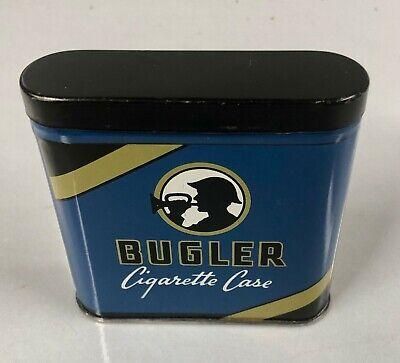 VINTAGE BUGLER CIGARETTE CASE PIPE TOBACCO CASE TIN CAN W/ LID