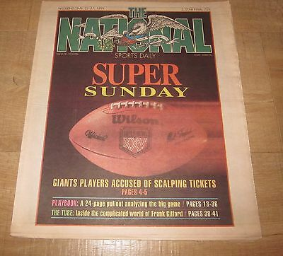 The National Sports Daily  Newspaper Jan  25 27  1991 Superbowl Edition Whoa