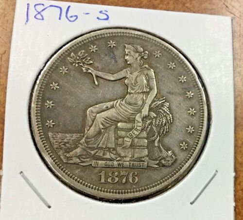 1876-S Trade Dollar  XF AU details very nice appearance