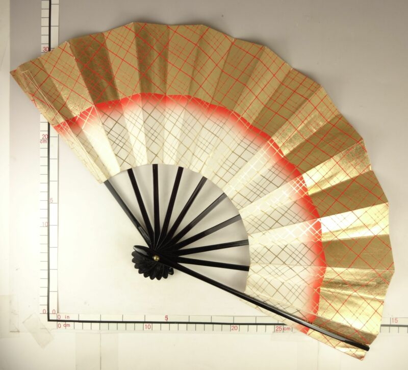 YU187 SENSU Japanese Fan Art Dance Picture Geijyutu Traditional crafts Vintage