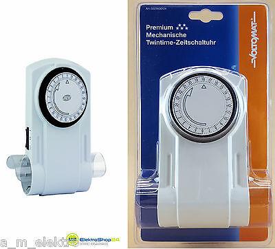 REV Zeitschaltuhr 2 fach mechanisch Premium Twintime 25600