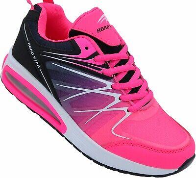 Damen Laufschuhe Sportschuhe Turnschuhe Sneaker  Nr. 536 -12 fuchsia-schwarz Fuchsia Damen Schuhe
