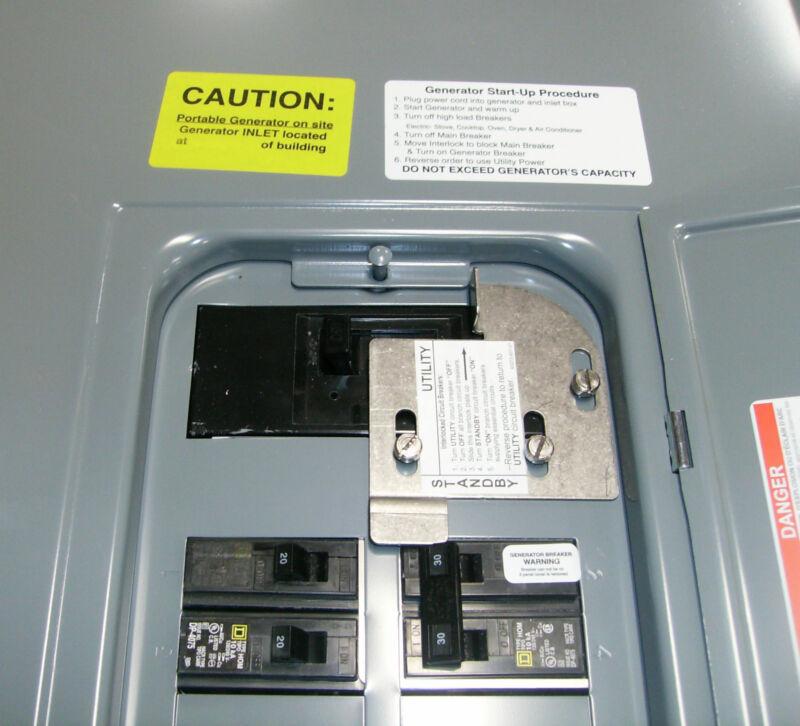 FAC-HOM200I  Square D Homeline Generator interlock kit 200 Amp Listed