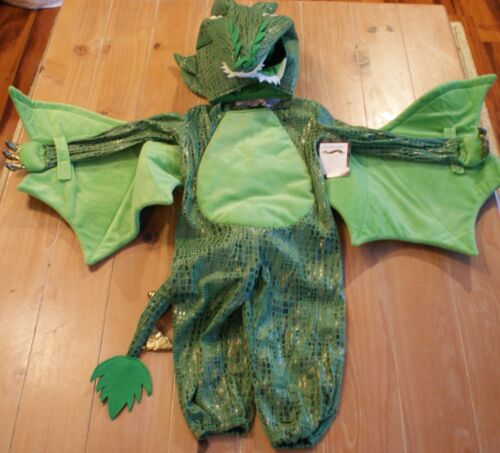 New Pottery Barn Kids GREEN DRAGON Costume - Kids Size 3T