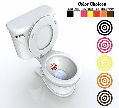 Toilet Targets (TOILET TARGET POTTY TRAINING Vinyl Decal Sticker FUNNY boys and girls )