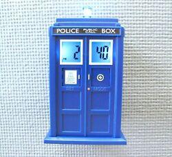 BBC Dr Who Tardis Digital Projection Alarm Clock Police Call Box Lights/ Sounds