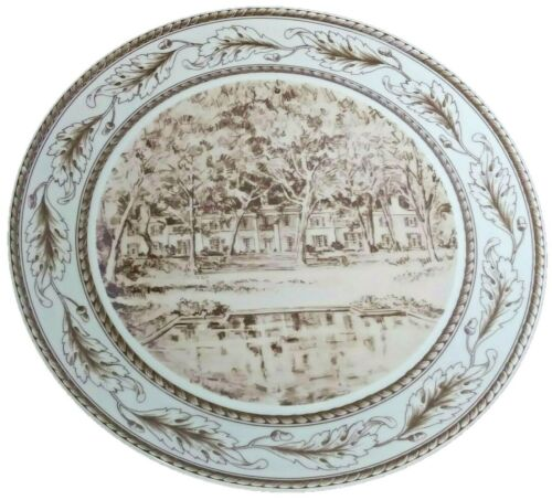 Museum Of Fine Arts Houston TX E.M. Schiwetz Sketch Bayou Bend Plate Mottahedeh