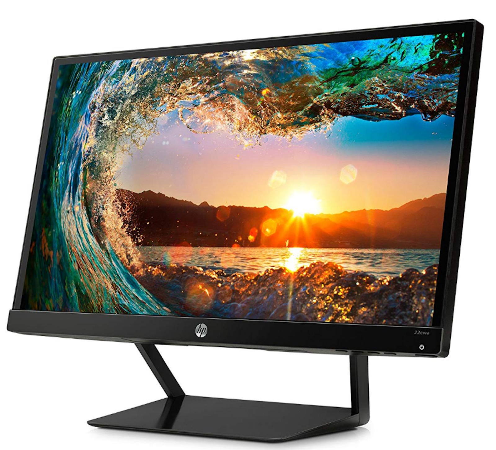 "HP Pavilion 21.5"" Full HD IPS LED HDMI VGA Monitor 1920 x 1080 7 ms 22CWA"