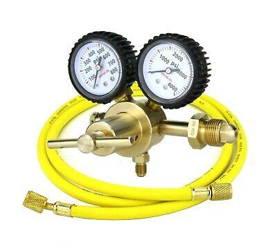Nitrogen Gas Regulator 0-600 Psig Hvac Purging Pressure Charge With Hose - Sa