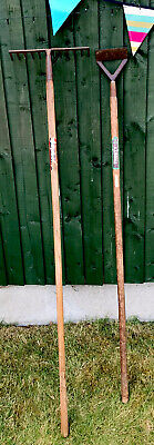 Vintage Spear And Jackson Garden/Allotment Tools Trusty Hoe Neverbend Rake Vgc