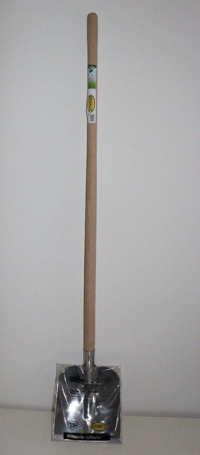 Edelstahl - Schaufel Holsteiner Art mit Stiel Größe 2 270 x 250 mm  Schaufel
