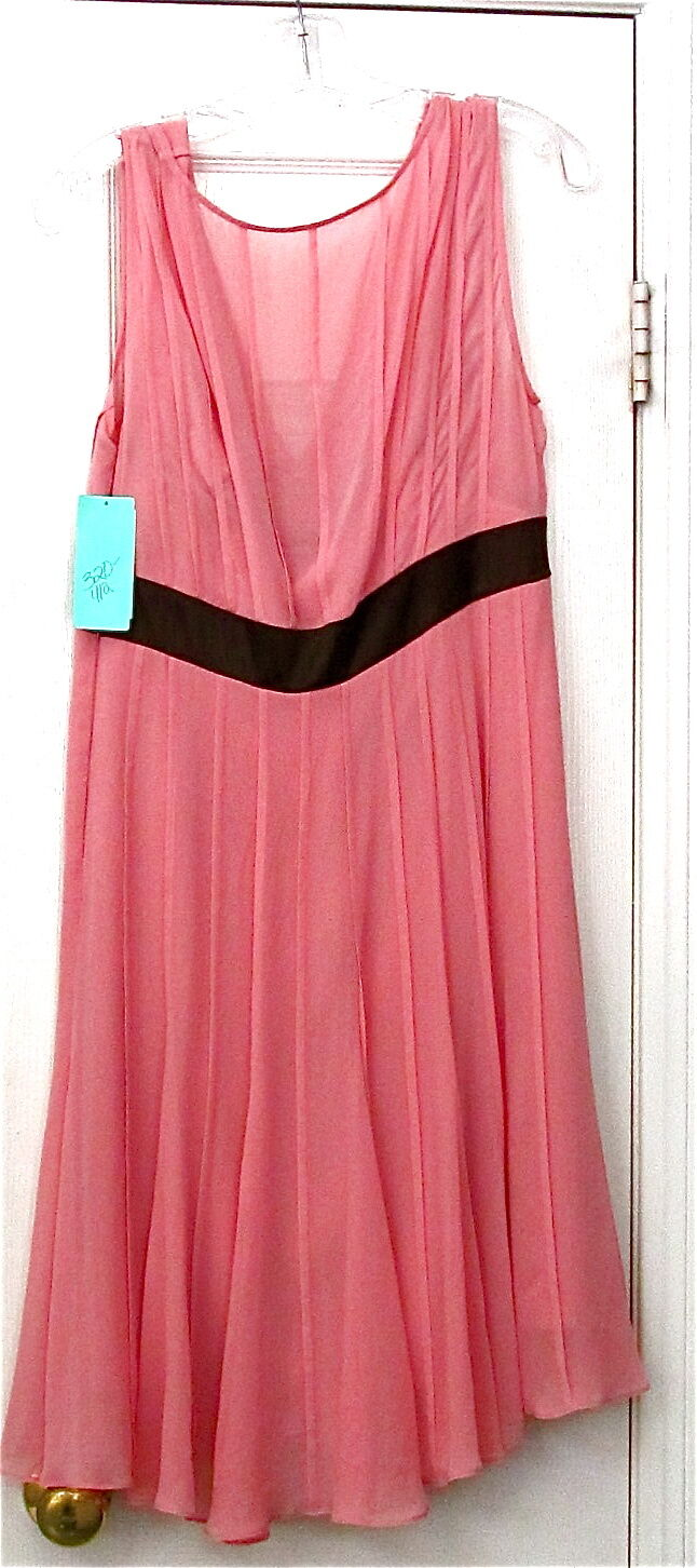 Junior Vintage Style Bcbg Pink Dress With Tags
