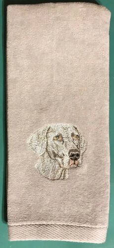 Weimaraner Hand Towel, Embroidered, Custom, Personalized, Dog