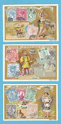 LIEBIG  -  RARE SET OF 6 CARDS - S  589  /  F  591  -  POSTAGE STAMPS II -  1899