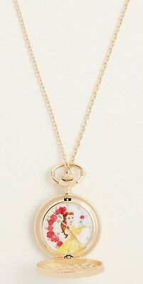 Disney Beauty and the Beast Watch Pendant Necklace NWT