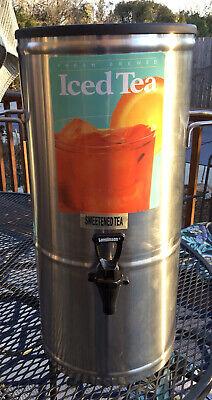 C. Supreme Commercial 5 Gallon Stainless Steel Ice Tea Beverage Dispenser Server