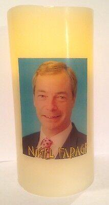 NIGEL FARAGE UKIP ELECTRONIC FLICKERING CANDLE