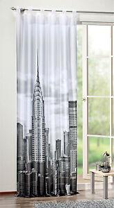 Presilla-New-York-48539-896-impresion-digital-Voile-Negro-Blanco-245-x-120cm