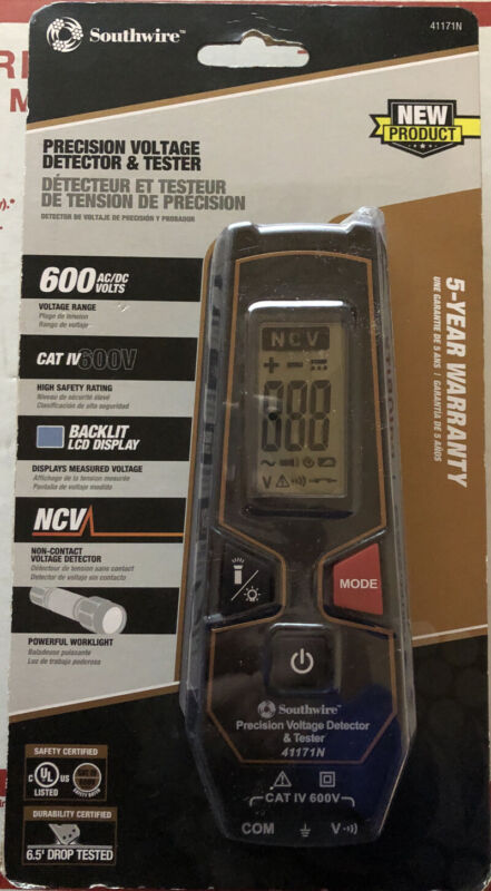 Southwire 41171N Precision Voltage Detector & Tester New Sealed