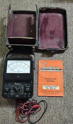 Vintage Simpson 260 Series 4 Analog Volt-ohm Meter Usa Bakelite - Partsuntested