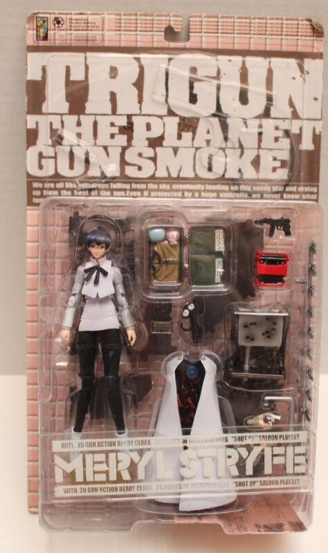 NEW  Trigun The Planet Gunsmoke MERYL STRYFE by Kaiyodo With 20 Gun Ready Cloak