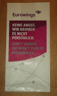 """Eurowings Sick Bag new, unused """"Dont Worry....."""""""