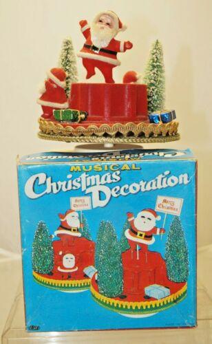 Vintage 1950s - 60s Made Japan Santa & Gifts Musical Motion Christmas Decoration