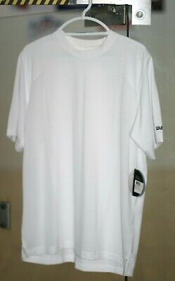 a244080a WILSON WHITE TEE SHIRT, CREW, DRY FIT ,WHITE COLOR, MENS SIZE XL