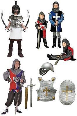 Ritter Rüstung Kostüm Uniform Helm Gewand Jungen Kinder Prinz Löwenherz Ivanhoe