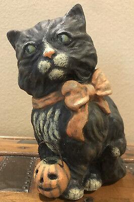 Bethany Lowe Vergie Lightfoot Halloween Cat With JOL--retired