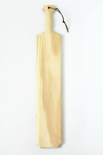 """Fraternity Paddle - Solid, high-quality pine - 22"""", w/ woven strap."""