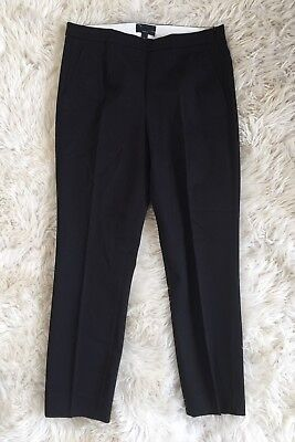 JCrew $90 Martie pants in bistretch cotton 8 Black b8521 Suiting Work New