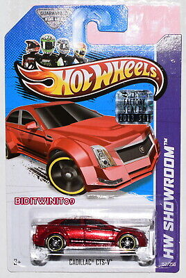 HOT WHEELS 2013 HW SHOWROOM CADILLAC CTS-V RED FACTORY SEALED W+