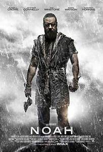 Noah-DOUBLE-SIDED-ORIGINAL-MOVIE-Film-POSTER-Russell-Crowe-Regular-Style-Ark