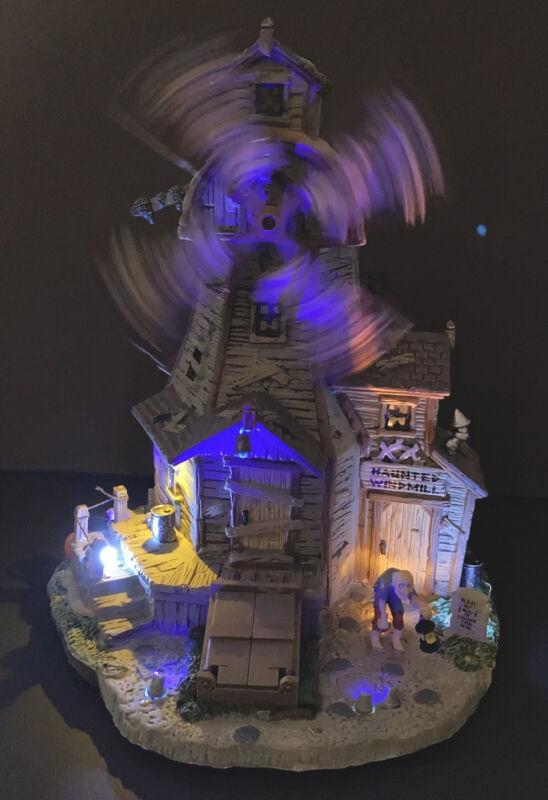 LEMAX Spooky Town 👻 HAUNTED WINDMILL ☠️ Illuminated Halloween 🎃 85667 New Box