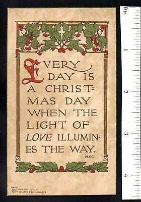 EVERY DAY CHRISTMAS LIGHT ' LOVE ILLUMINATES 1880'S VICTORIAN AGE CHRISTMAS CARD ()