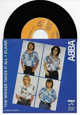 ABBA THE WINNER TAKES IT ALL VERY RARE ORIGINAL SINGLE FROM MEXICO