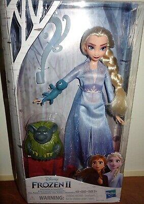Disney Frozen 2 II Elsa❄️ Doll with BRUNI SALAMANDERand Pabbie Set