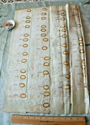 Antique c1880 Swiss Embroidery Sample Page~2 Sides,98 Pieces~Dolls, Design