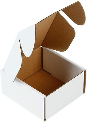 Recyclable Corrugated Box Mailers Perfect For Shipping Small - 4x4x2 50 Packs