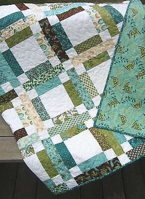 Patchwork QUILT PATTERN Jelly Roll or Fat Quarters, simple, fast and (Easy Quilt Pattern)