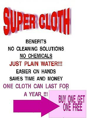 cleaning cloth, SUPER CLOTH, dusting, windows, walls, cars, counters, bathroom