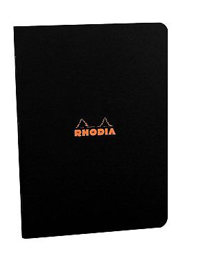 Rhodia Staplebound - Notebook - Black - Lined - 8.25 X 11.75 - R119169