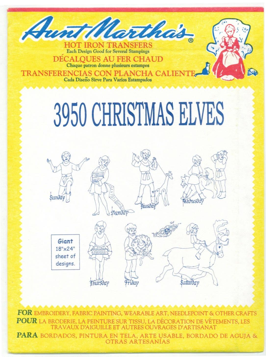 Christmas Elves Retired Aunt Martha S Hot Iron