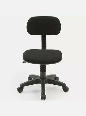 Hodedah Armless Adjustable Height Swiveling Task Chair In Black