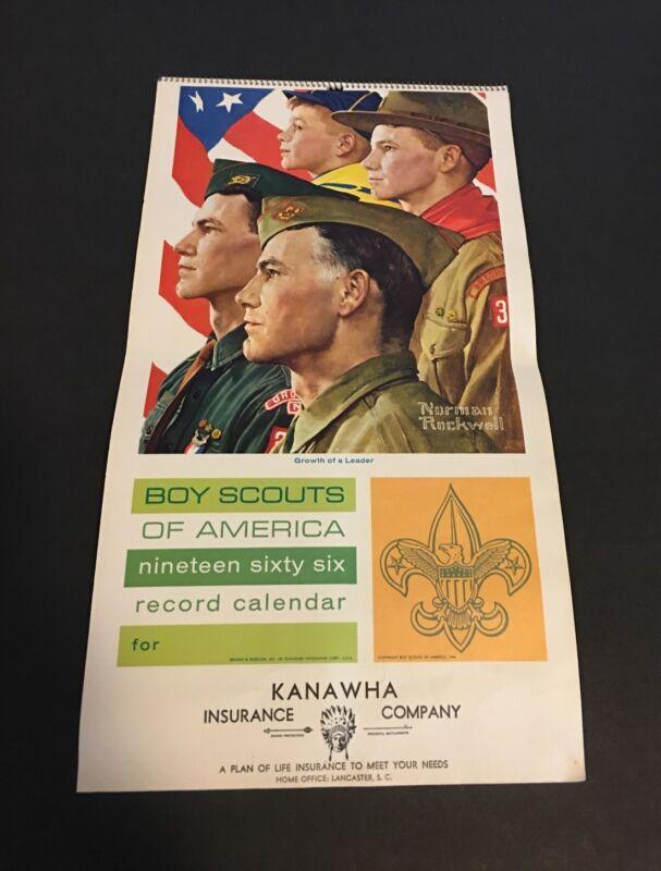 1966 BOY SCOUTS of American Calendar NORMAN ROCKWELL Booklets TIGER CUBS Emblem