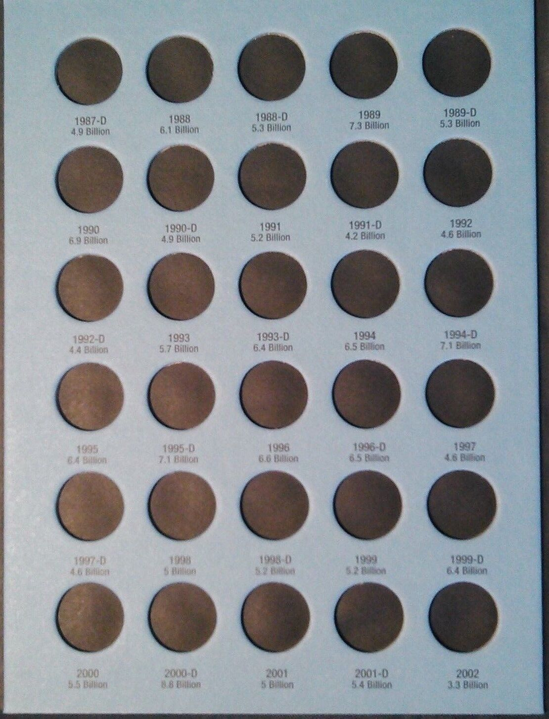 Whitman Lincoln Cents Vol  #3 1975-2013 Coin Folder, Penny