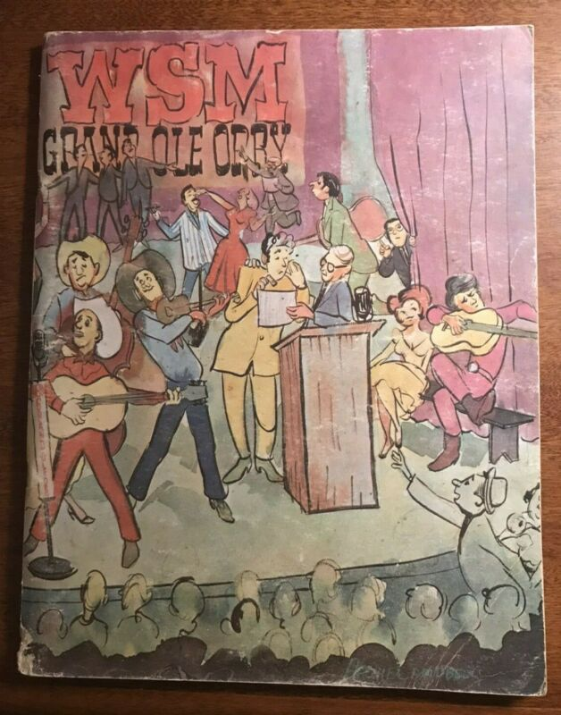 1966 Grand Ole Opry History Picture Book w/ autographs